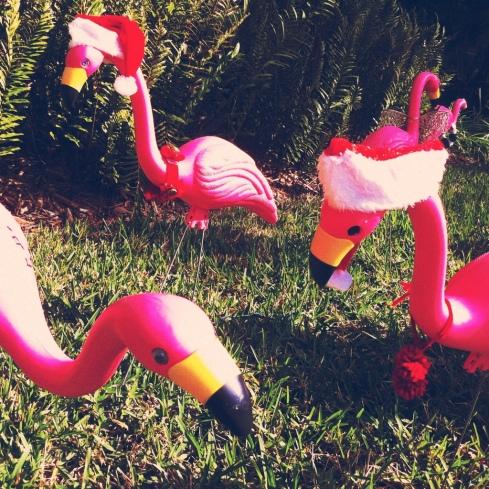 flamingo santas